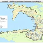 Carte nitrates SAGE baie Douarnenez 2012 - 2013