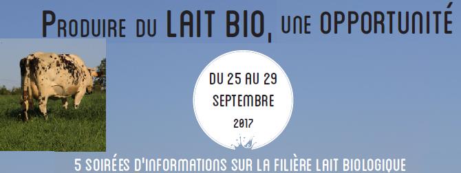 Soirée d'information sur la filière lait biologique le 28 septembre à Plomodiern