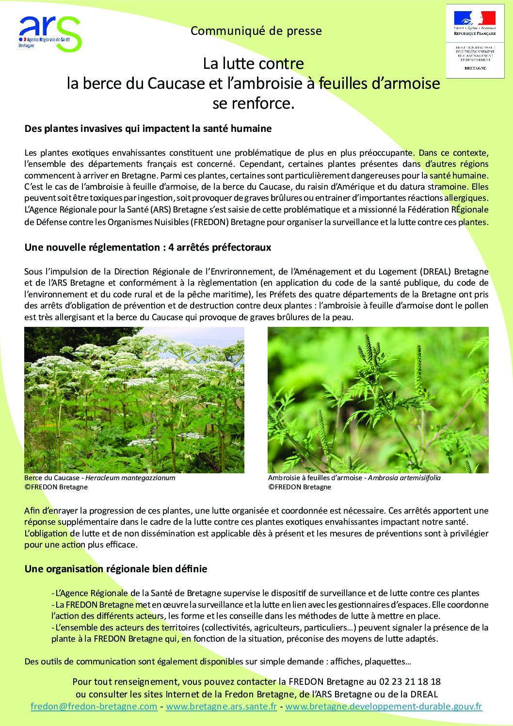 Arrêtés préfectoraux – Lutte contre les espèces végétales invasives